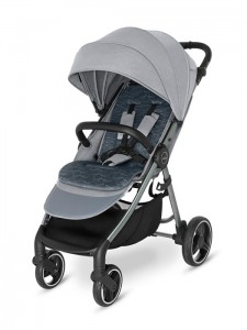 Wózek spacerowy Baby Design Wave 2021  107 Silver Gray